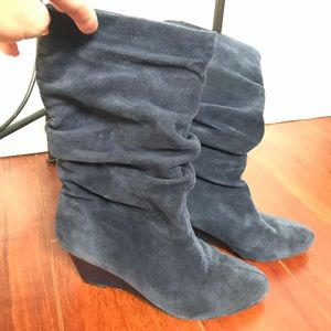 Alex Marie Blue Suede Slouch Boots 8